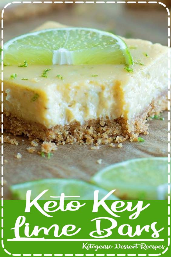 Are you looking for a refreshing keto dessert Keto Key Lime Bars