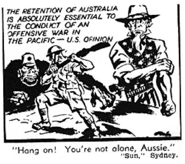 Cartoon in Argus Supplement, 14 February 1942, worldwartwo.filminspector.com