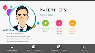 DESBUD ID : Materi Belajar IPS - Interaksi Sosial | BAB 2 - Kelas 7