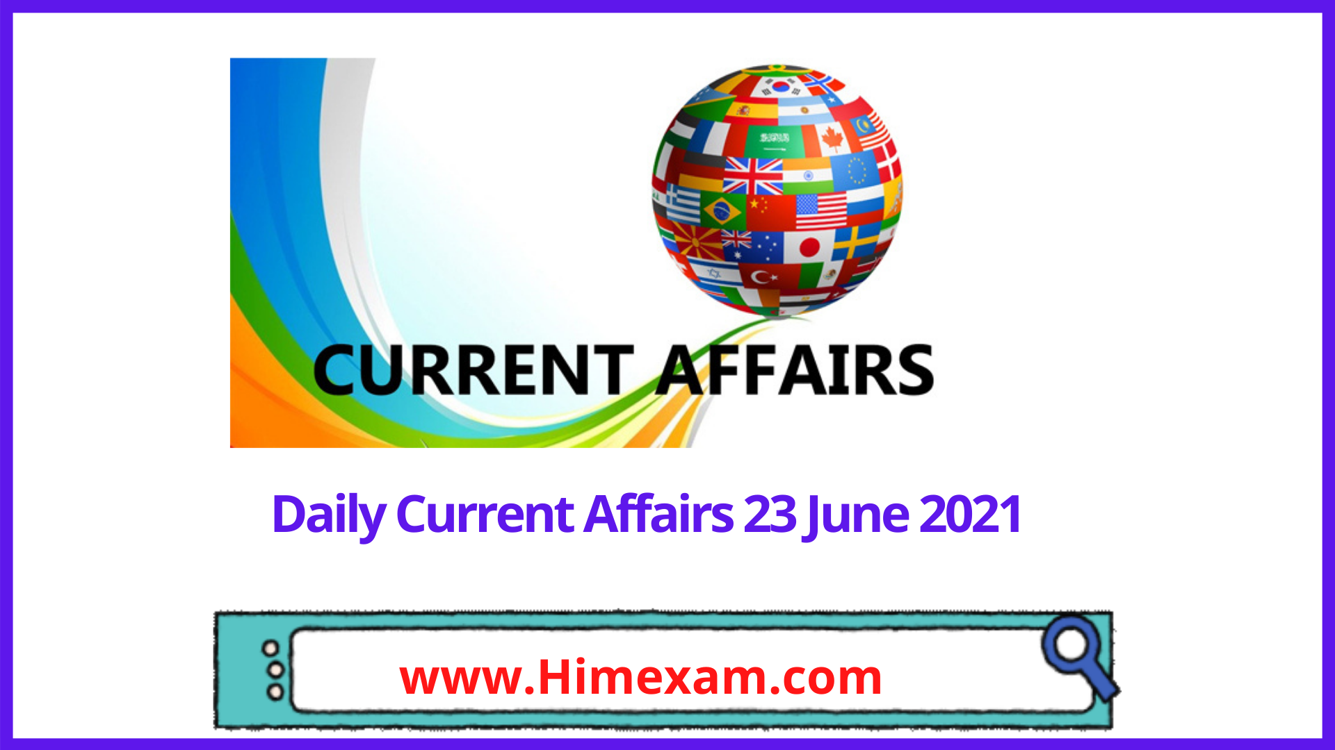 Daily Current Affairs 23 June 2021 In Hindi