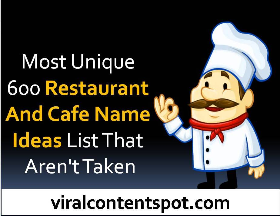 Restaurant and cafe name ideas