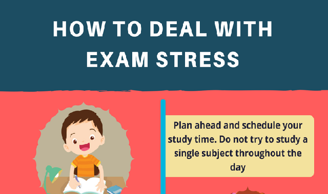 How To Deal With exam Stress #infographic