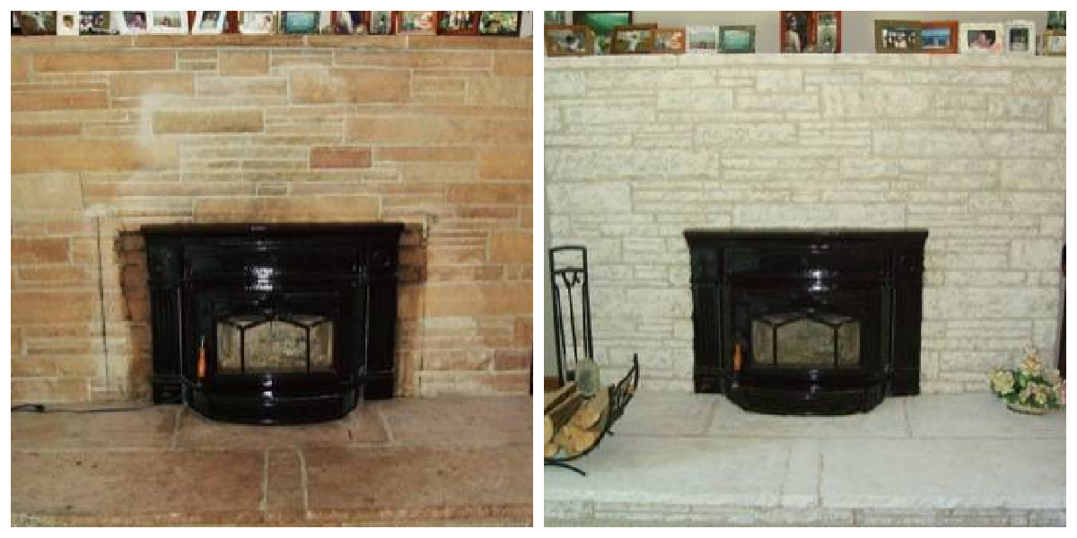 Fireplace Decorating: Painting Fireplace Brick