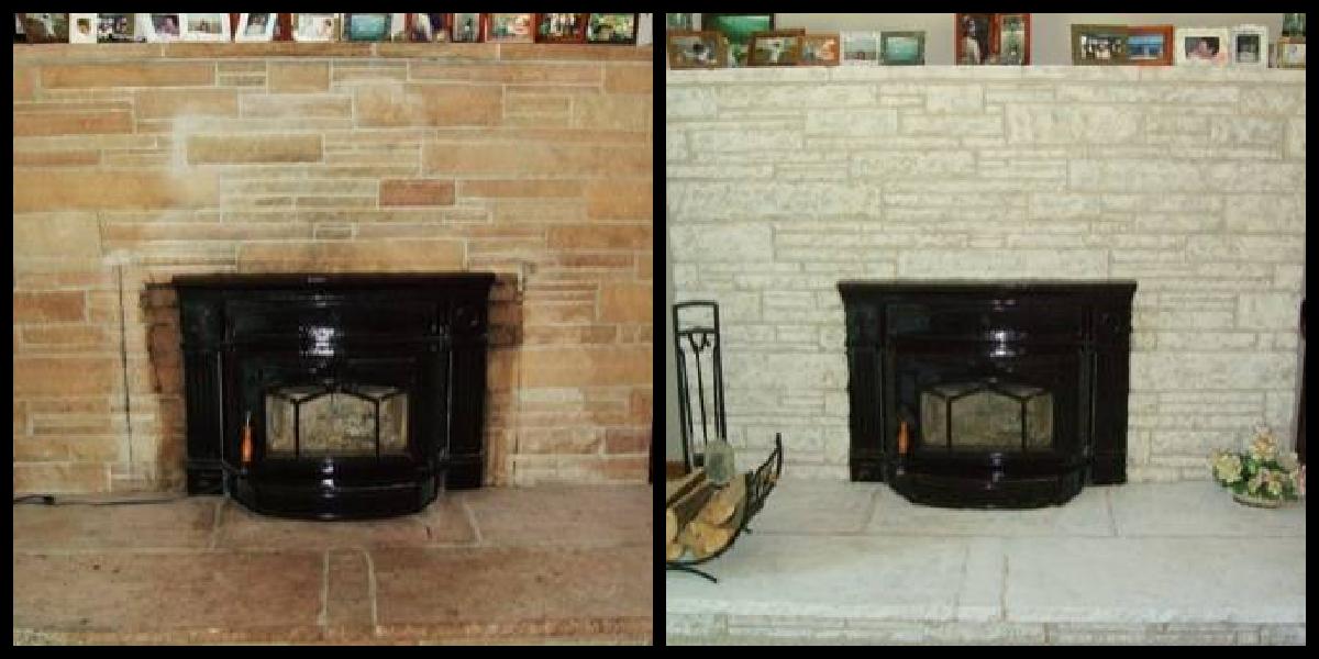 Fireplace Decorating: Painting Fireplace Brick