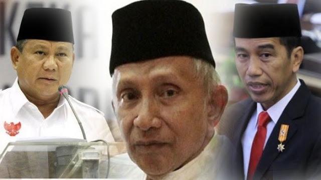 Surat Prabowo untuk Amien Rais