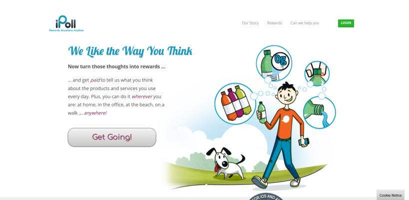 iPoll is an online community where you can fill surveys for money.