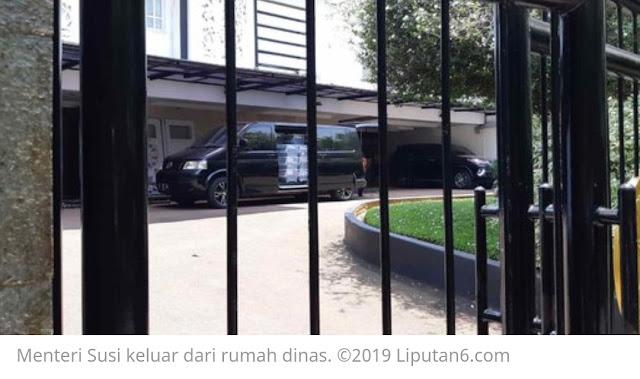 Diberitakan Bu Susi, Sudah Kemasi Barang Dari Rumah Dinas Menteri