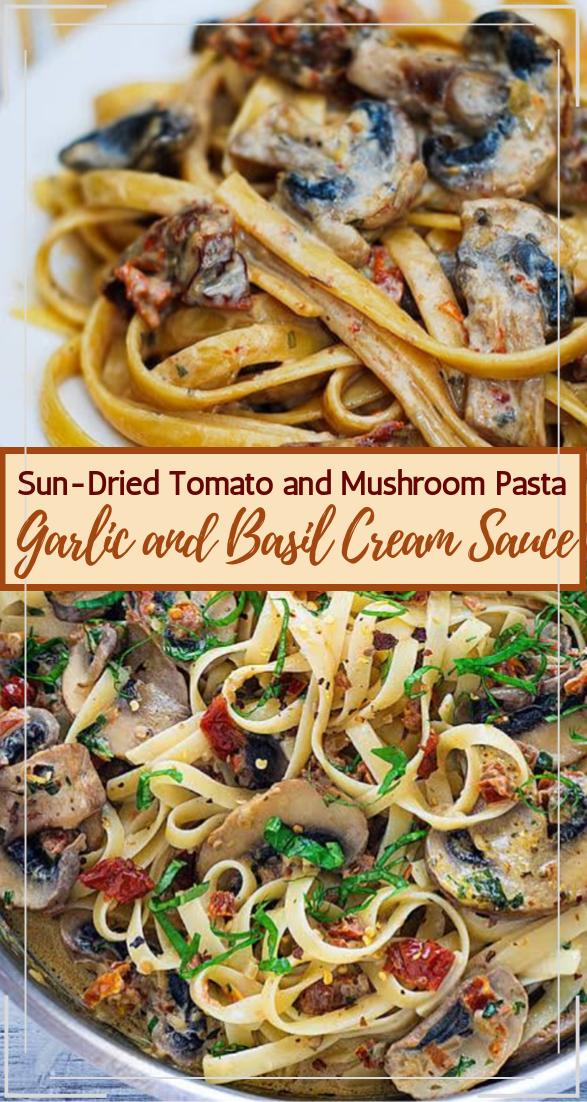 Sun-Dried Tomato and Mushroom Pasta #vegan #vegetarian #soup #breakfast #lunch