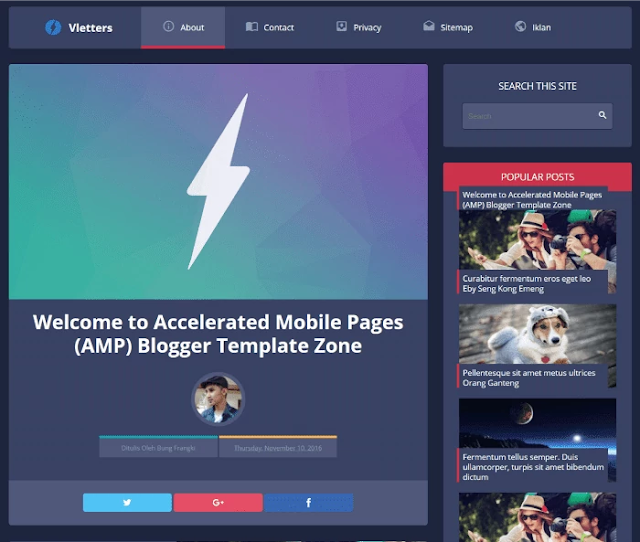vletters blogger template, amp blogger template, best free google amp supported blogger templates, amp blogger template free download, seo friendly blogger template