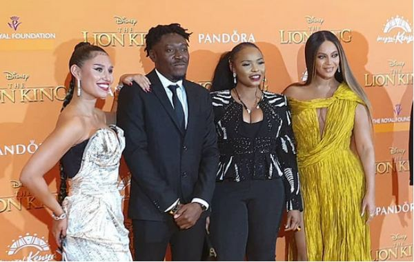 Yemi-Alade-Beyonce-meet-at-Lion-King-premiere-London