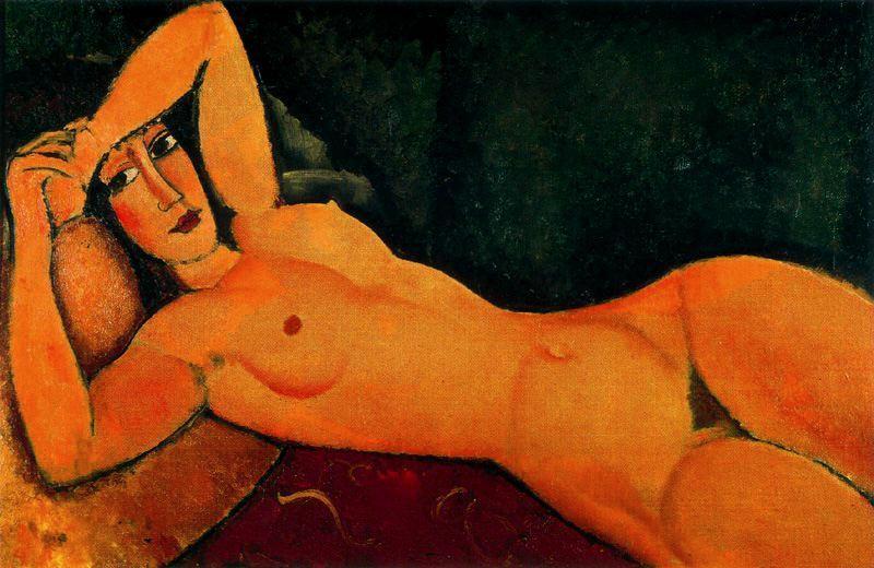Nu Reclinado com o Braço Esquerdo Descansando na Testa - Amedeo Modigliani e suas pricipais pinturas