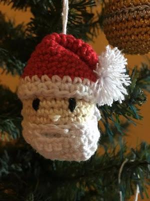 Enfeite de Natal de Crochê