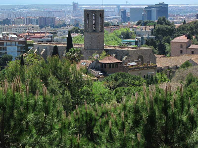 Pedralbes Monastery from Oreneta Park