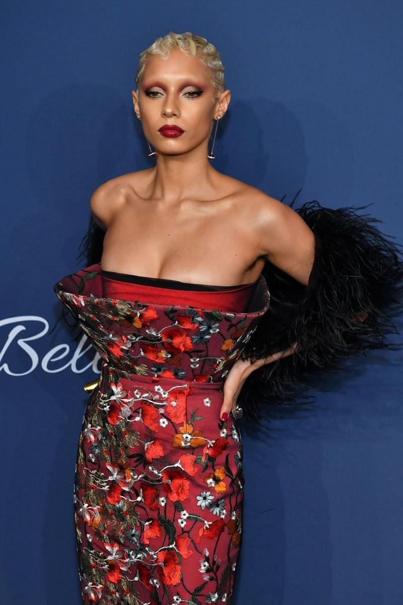 Jazzelle Zanaughtti Clicks at 22nd Annual Amfar Gala in New York 5 Feb-2020