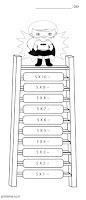 דף צביעה לוח הכפל