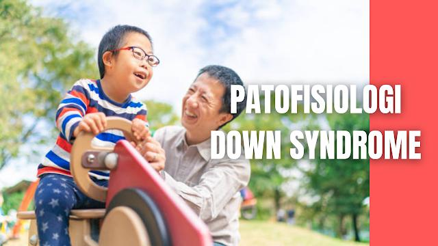Patofisiologi Down Syndrome Pada Manusia Tubuh manusia memiliki sel di dalamnya terdapat nucleus, dimana materi genetik disimpan dalam gen. Gen membawa kode yang bertanggung jawab atas semua sifat yang diwarisi oleh orang tua kemudian dikelompokkan bersama batang seperti struktur yang disebut kromosom. Biasanya, inti dri setiap sel mengandung 23 pasang kromosom. Down syndrome terjadi ketika seorang individu memiliki salinan ekstra yang terjadi pada kromosom 21.  Selama masa pembuahan, cedera otak biasa terjadi bila ada faktor genetik yang mempengaruhi, seperti kelainan kromosom yang menyebabkan kelainan otak pada anak down syndrome. Anak yang mengalami cedera otak kehilangan kemampuan untuk menyerap informasi (sensorik) dan merespon informasi (motorik).  Kromosom dapat dianggap sebagai pengaruh penting untuk perkembangan otak dank arena kelainan kromosom dapat menganggu perkembangan otak pada semua tahap. Seperti perkembangan otak di ganglia basal, hipotalamus mengalami gangguan neurologis.  Ganglia basal memiliki peran kompleks dalam mengontrol gerakan selain memiliki fungsi-fungsi non-motorik yang masih belum diketahui. Secara khusus, ganglia basal penting dalam perkembangan tonus otot di seluruh tubuh. Pada down syndrome ganglia basal tidak berkembang dengan baik untuk melaksanakan peran-peran integratif yang kompleks.  Kelebihan kromosom menyebabkan perubahan dalam proses normal yang mengatur embryogenesis. Materi genetik yang berlebih tersebut terletak pada bagian lengan bawah dari kromosom 21 dan interaksinya dengan fungsi gen lainnya menghasilkan suatu perubahan homeostasis yang memungkinkan terjadinya penyimpangan perkembangan fisik (kelainan otot), sistem saraf pusat (penglihatan, pendengaran, keseimbangan) dan kecerdasan yang terbatas.  Otak anak-anak down syndrome menunjukkan karakteristik dari ketidakdewasaan neurologis dalam hal convolutions (penggabungan) yang lebih kecil dari korteks serebral dan mengurangi mielinasi misalnya, lobus frontal dan cerebe