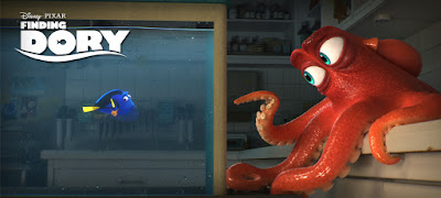 Dory speaks to an octopus