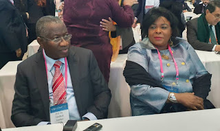 Ex President, Jonathan And Mama Peace Attends World Summit 2020 In South Korea