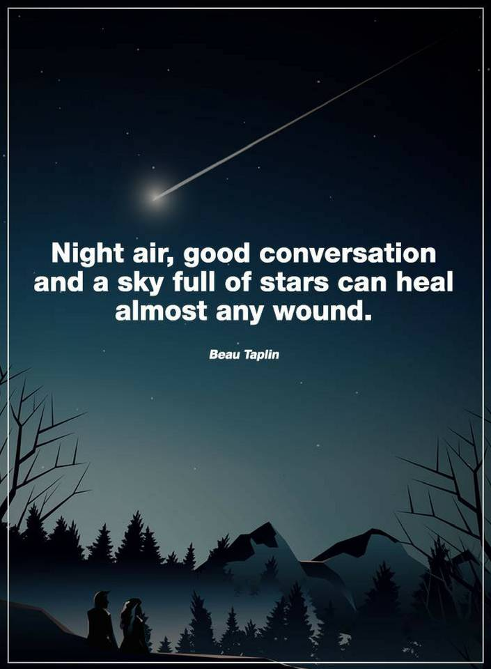 Quotes Night Air Good Conversation And A Sky Full Of Stars Can Heal