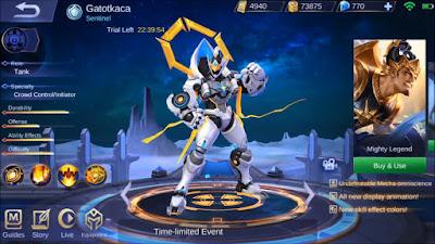 Bocoran Skin Epic Baru Gatotkaca Mobile Legends