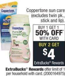 Cheap Coppertone Sunscreen Spray at CVS 4-12-4-18