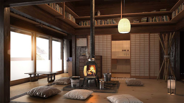 Japanese Living Room Style