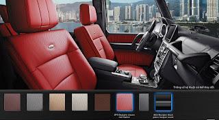 Nội thất Mercedes AMG G63 2015 màu Đỏ Leather ZF5