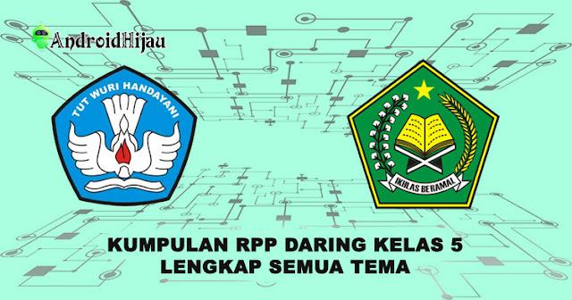 RPP daring kelas 5 semua tema, rpp 1 halaman kelas 5 lengkap, rpp k13 1 lembar kelas 5