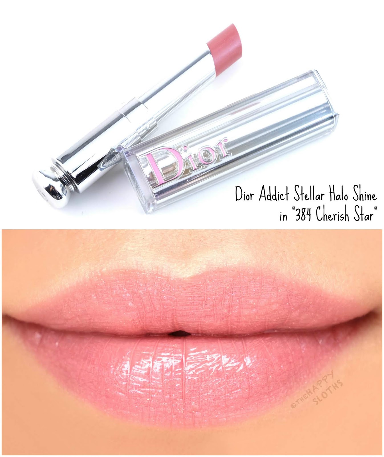 "Dior | Dior Addict Stellar Halo Shine Lipstick in ""384 Cherish Star"": Review and Swatches"