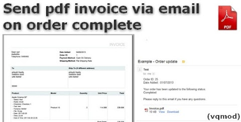Opencart Send PDF Invoice via Email on Order Complete