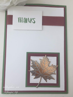 Colourful Seasons Thank You Card. Inspire Create Challenge