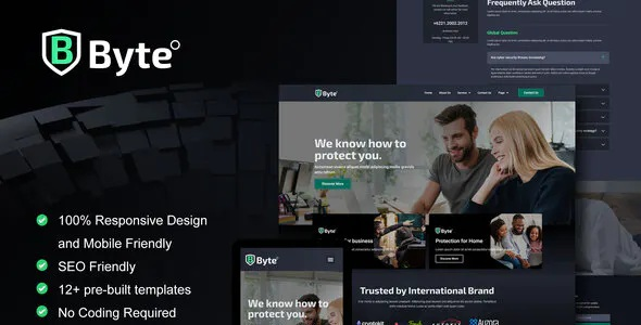 Best Cyber Security Business Elementor Template Kit