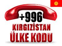 +996 Kırgızistan ülke telefon kodu