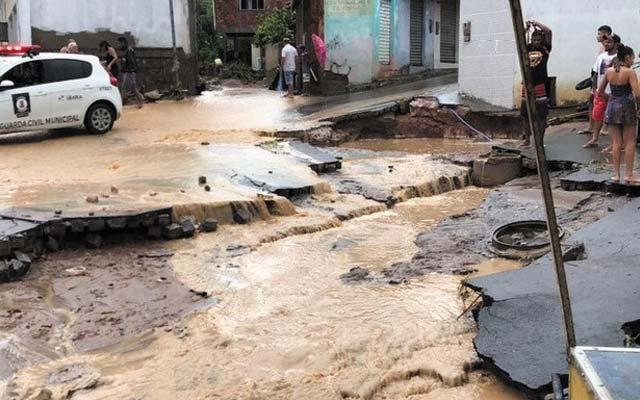 Chuva deixa cerca de 30 famílias desalojadas em Ubaíra