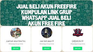 Link grup whatsapp free fire indonesia