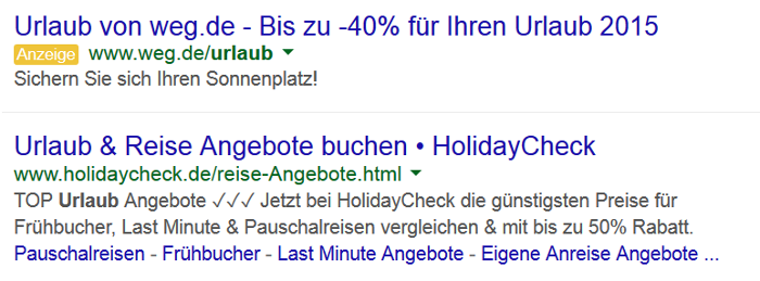 Native Advertising bei Google.