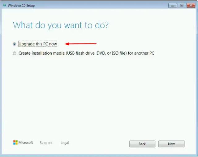 طريقة الترقية المجانية لأحدث نسخة من Windows 10 على الأجهزة القديمة .
