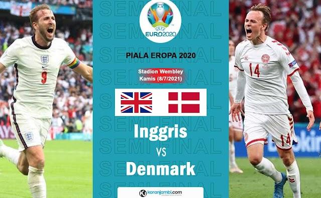 Semi Final Euro Inggris Vs Denmark Akan Berlangsung Sengit, Simak Ulasannya