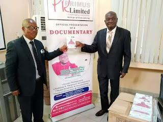 Public Relations guru, Mr. Akin Okudero Presents  documentary chronicle To FUNAAB VC