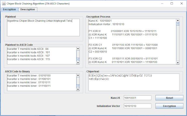 Algoritma Chiper Block Chaining Untuk Kriptografi Teks Berbasis Java