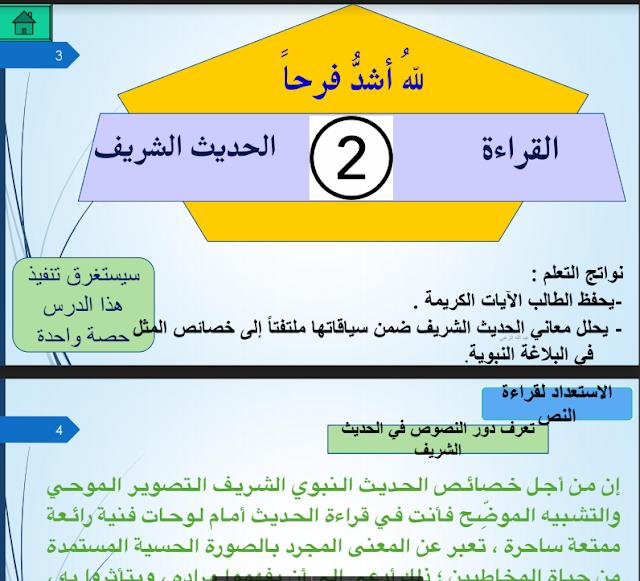حل درس لله أشد فرحا لغة عربية ثاني عشر فصل ثاني