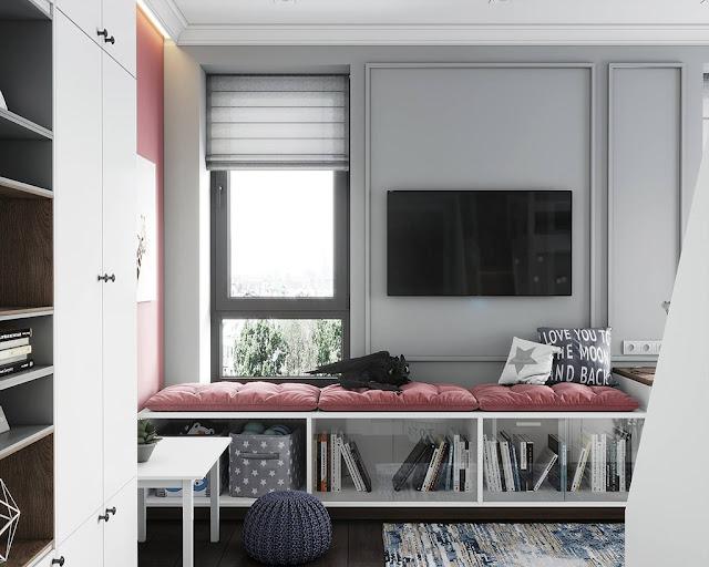 Thiết kế và thi công hoàn thiện nội thất căn hộ chung cư Celadon City quận Tân Phú - Phòng ngủ có giường tần cho trẻ em