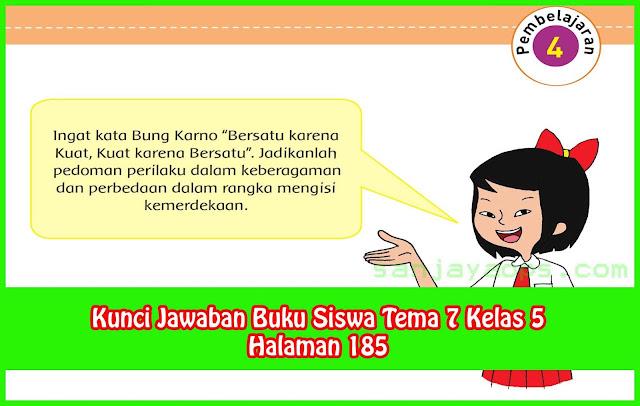 Kunci Jawaban Tema 7 Kelas 5 Halaman 185