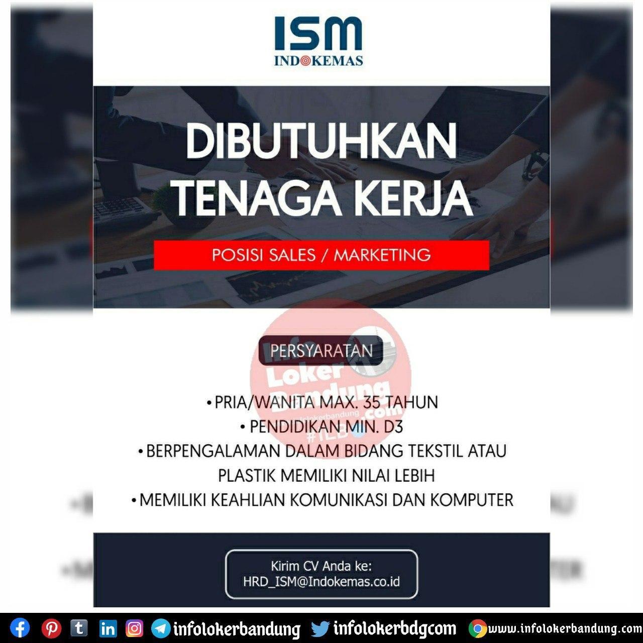 Lowongan Kerja PT. Indokemas Sukses Makmur Bandung Oktober 2020