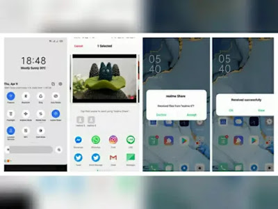 Cara menggunakan Realme Share