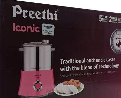 Preethi Iconic Wet Grinder Table top Grinder 2 L (Pink)