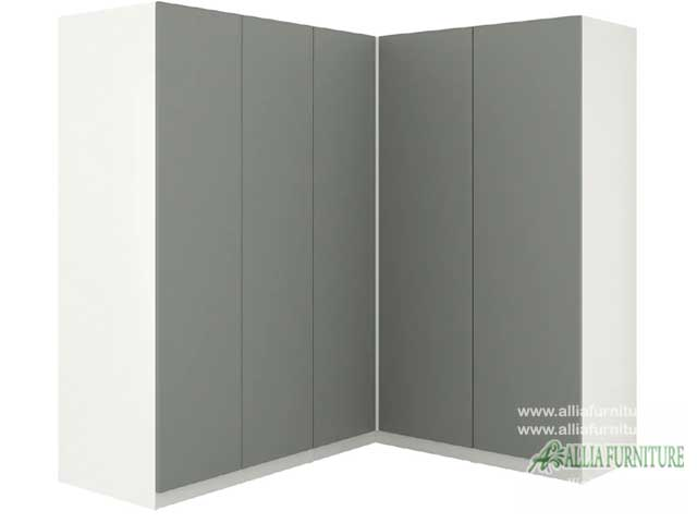 lemari minimalis sudut model stone