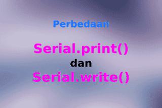 Perbedaan Serial.print dan Serial.write Pada Arduino