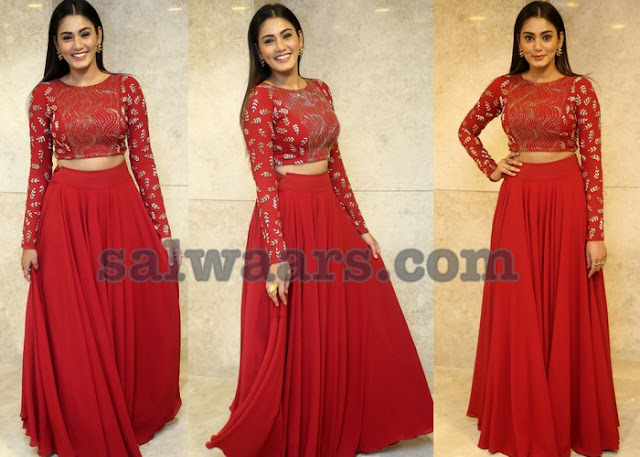 Sana Makbul Red Crop Top