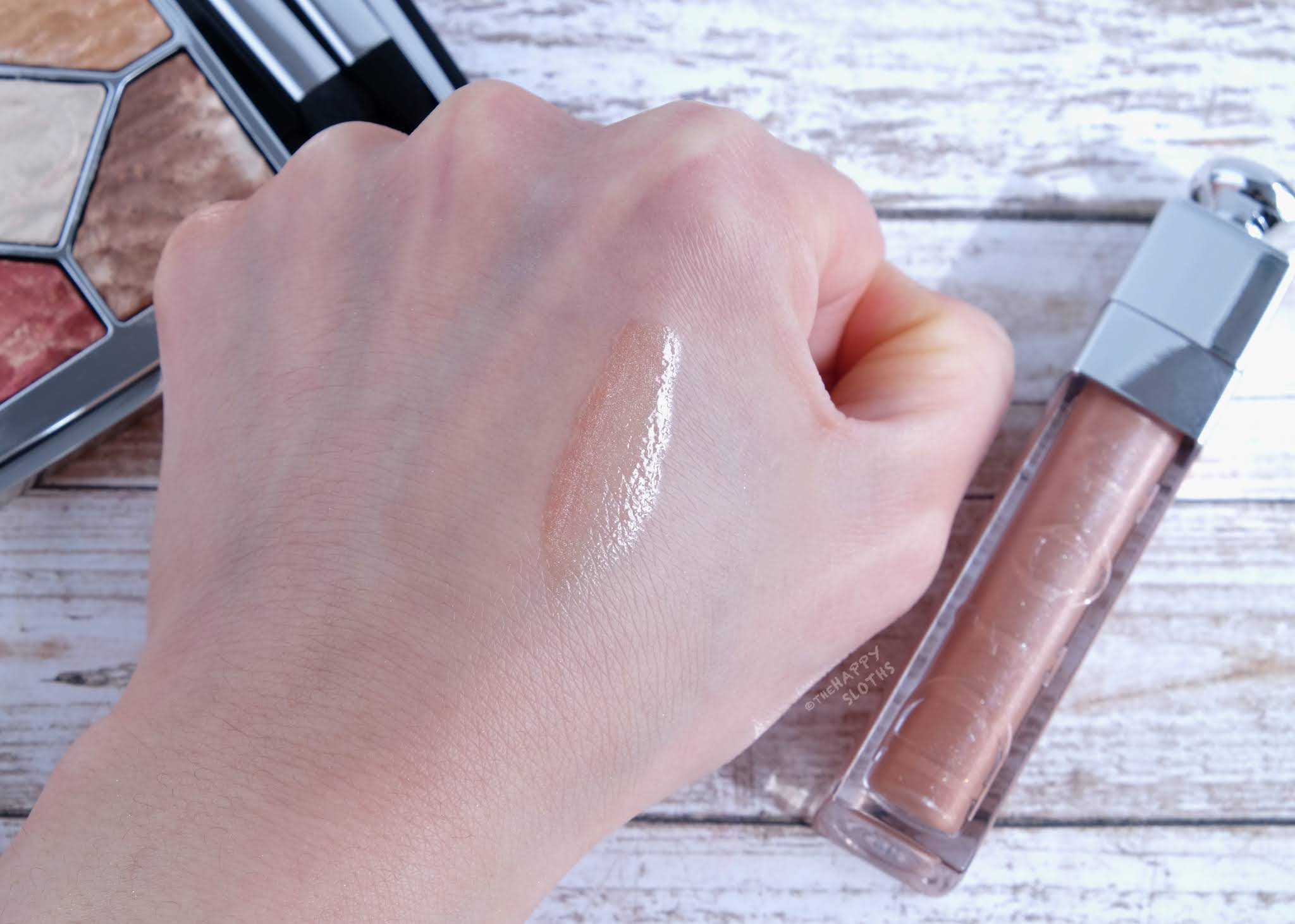 "Dior | Dior Addict Lip Maximizer Plumping Gloss in ""016 Shimmer Nude"": Review and Swatches"
